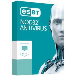 ANTIVIRUS ESET NOD32 Antivirus 12-2019   2 Postes - 1 An - V