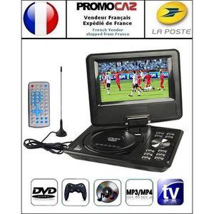 LECTEUR DVD PORTABLE DVD-Console noir portable 7.5p (MP3,MP4,TV,SD,USB)
