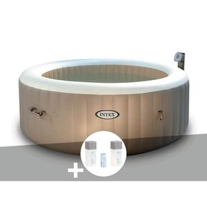 SPA COMPLET - KIT SPA Spa gonflable Intex PureSpa rond Bulles 4 places +
