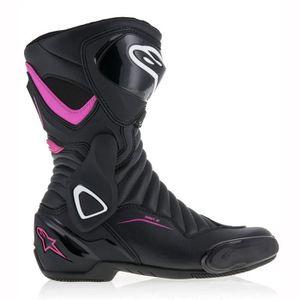 CHAUSSURE - BOTTE Moto Alpinestars SMX-6 Bottes V2 Femme Noir Rose 4