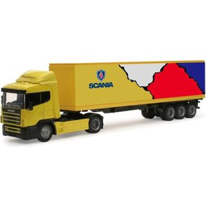 VOITURE - CAMION NEW RAY  Camion MERCEDES Remorque - Miniature  - 1
