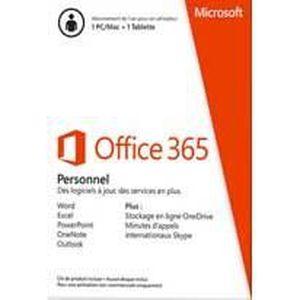BUREAUTIQUE À TÉLÉCHARGER Microsoft Office 365 Personnel