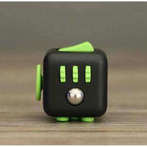 HAND SPINNER - ANTI-STRESS Fidget Cube Noir et Vert Jouet ReliefCube de Rubi