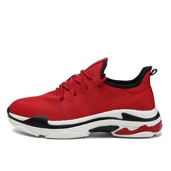Chaussure De Course Homme Classique Souple Contre Les Chocs Confortable Confort Douceur Classique Flexibilité Rouge Rouge - Achat / Vente basket