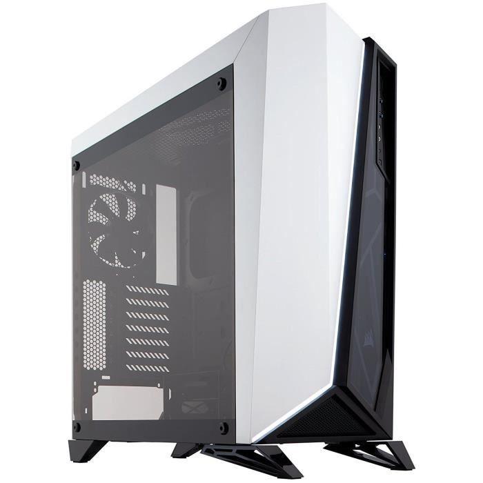 CORSAIR Boitier PC Carbide SPEC-OMEGA - Tempered Glass Gaming Case - Noir et blanc