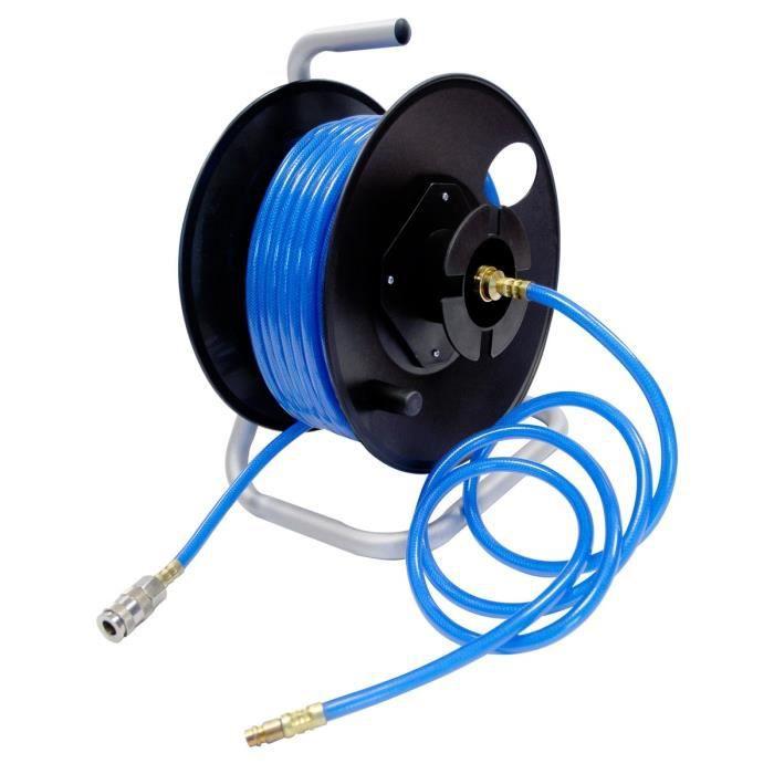MECAFER Dévidoir 20m pour outil pneumatique avec tuyau 6,3x11