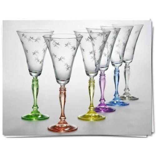 Verre à vin Boheme Cristal Set de 6 verres á Vin Victoria