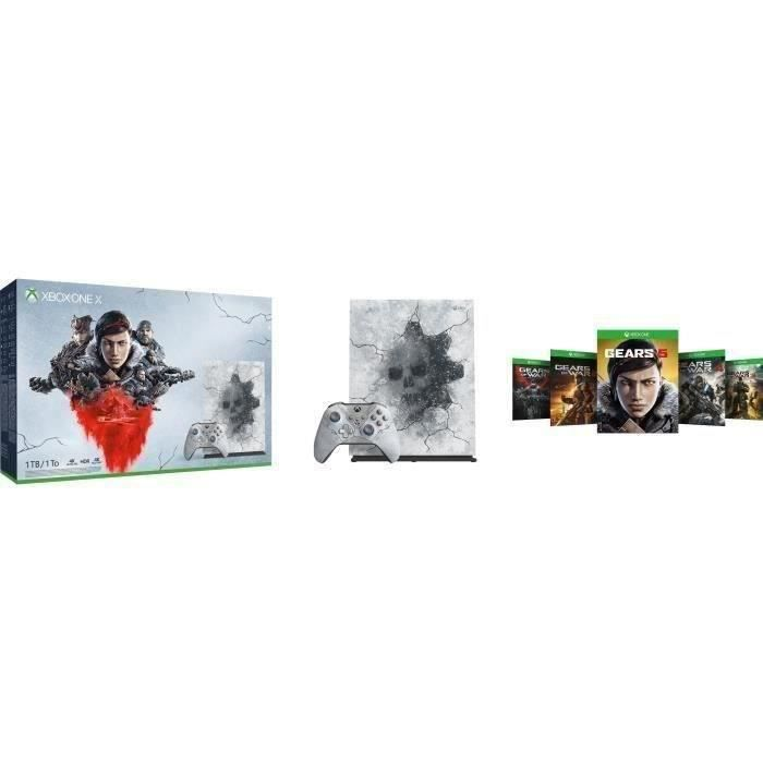 CONSOLE XBOX ONE NOUV. Xbox One X 1 To + 5 jeux Gears of War + 1 mois d'e