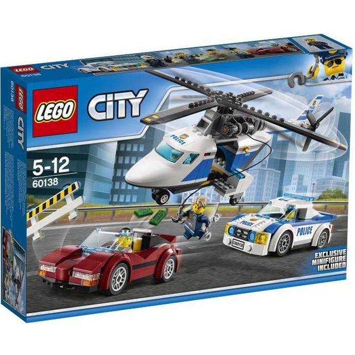 Lego City 60138 La Course En Hélicoptère Achat Vente Assemblage