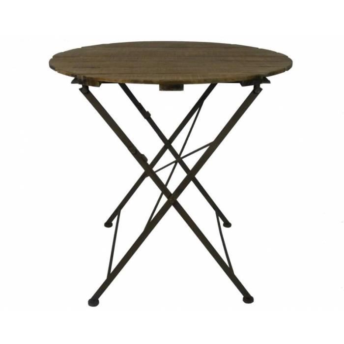Table ronde bois exterieur achat vente pas cher - Table d appoint exterieur ...