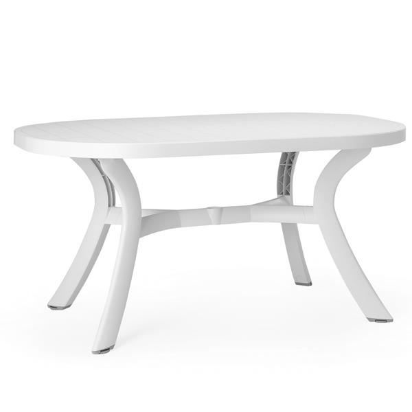 Table démontable ovale NARDI Toscana 145 - Blanc - Achat / Vente ...