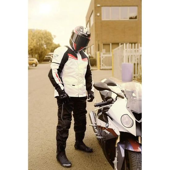 6fbe550f463 JET Blouson Veste Moto Homme Imperméable Avec Armure Textile Aquatex -  Achat   Vente blouson - veste Veste de moto - Cdiscount