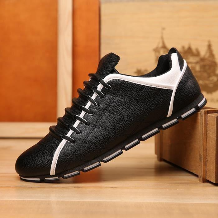 Sport Hommes Cuir Baskets Chaussures Pour Decontractés Chaussure Lacet q60zO