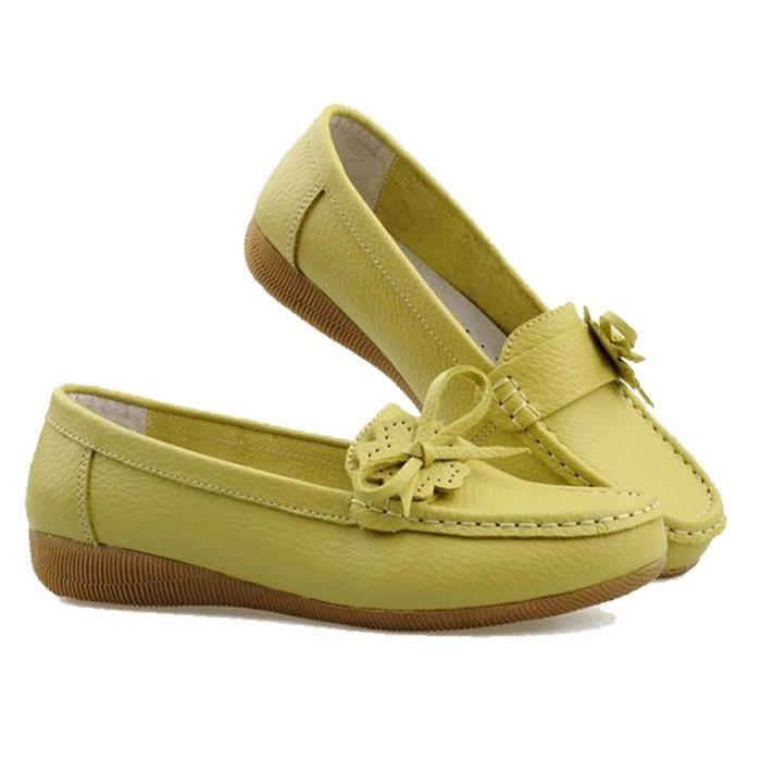 Femmes Flats 2017 nouvelles chaussures de base Plate-forme Femme Printemps Slip On Mocassins confortable Chaussures Femmes qCe8ydd