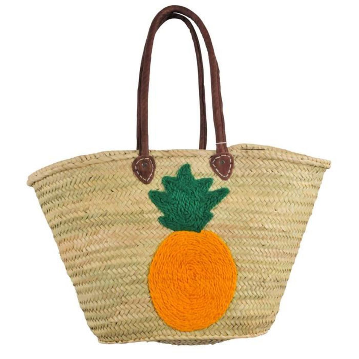 panier de plage en osier ananas beige u beige achat vente panier sac de plage. Black Bedroom Furniture Sets. Home Design Ideas