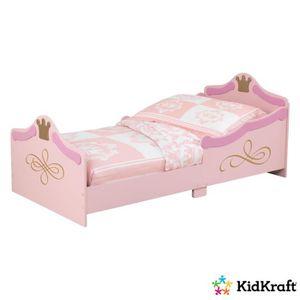 structure de lit kidkraft lit tout petit princesse rose - Lit De Princesse