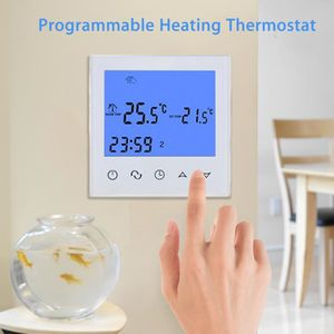 THERMOSTAT D'AMBIANCE SEESII HY03WE-2WIFI Touch Thermostat 230V blanc
