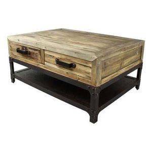 TABLE BASSE Table de salon industrielle métal et bois Bois Cla