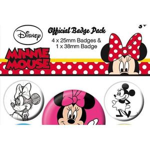 BADGES - PIN'S DISNEY - Pack 5 Badges - Minnie Mouse