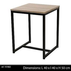 TABLE D'APPOINT TABLE BASSE D APPOINT STYLE INDUSTRIEL EN BOIS ET