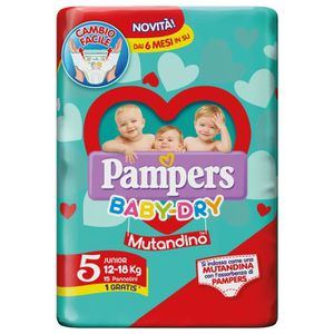 COUCHE PAMPERS BABY-DRY Culotte 5 Junior 12-18 Panneaux 1