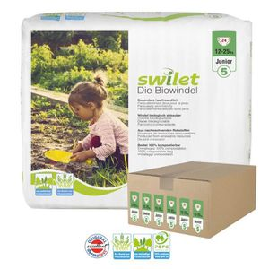 COUCHE Giga pack 144 Couches bio écologiques Swilet taill