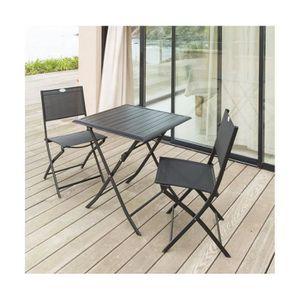 Best table de jardin pliante hesperide contemporary for Table extensible allure gris poivre graphite