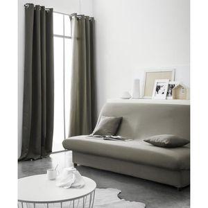 HOUSSE DE CANAPE TODAY Housse de clic-clac polyester 135x195 Bronze