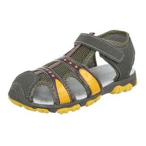 Chaussures pour enfants sandales fermeture velcro loisir jeune vert foncé 22 knTGy