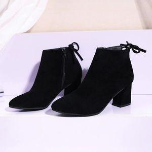 Chaussures imperméables femmes lacent Martin bottes couture solide appartement avec des chaussures @BK 1f5PngVJU