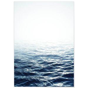 TABLEAU - TOILE Panorama® Tableau Mer Calme 100 x 70 cm - Imprimée
