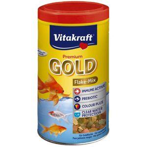 CROQUETTES VITAKRAFT Gold aliment en flocons - Pour poisson r