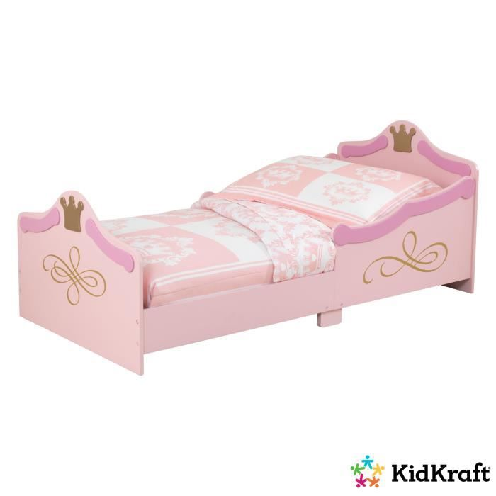 kidkraft lit princesse enfant 70x140 cm rose achat vente structure de lit cdiscount. Black Bedroom Furniture Sets. Home Design Ideas