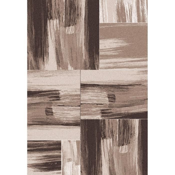 Matière : 100% polypropylène - Densité : 3000 gr/m² - Coloris : beige et marronTAPIS - DESSOUS DE TAPIS