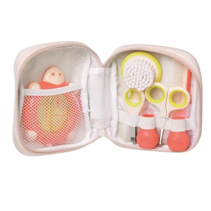 BEBE CONFORT Essentiel de toilette - 5 pièces - Dès la naissance - Bébé fille - Corail Sailor