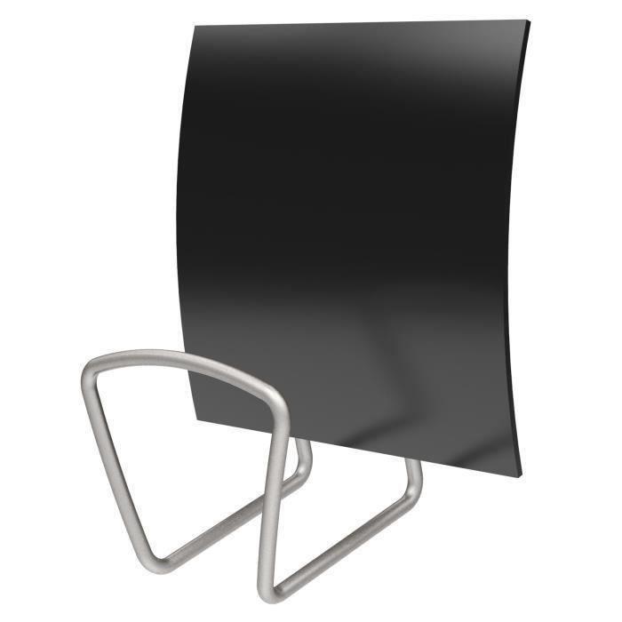 alba patère magnétique carrée - noir - 13,7 cm - achat / vente