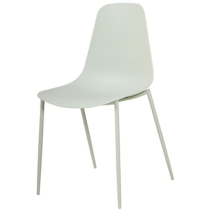 CHAISE SHIRLEY Chaise de salle à manger - Vert mat - Scan