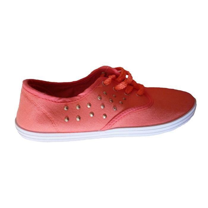 Baskets montantes couleur unie printemps-été Chaussures en toile plates Chaussures de sport en coton taille: 36-40 IiqIPft2h