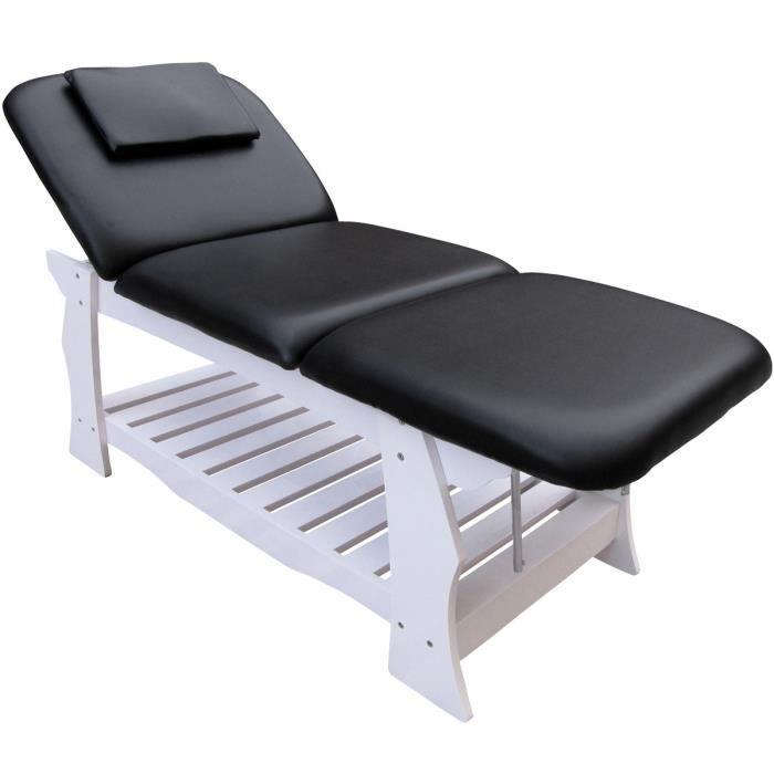 Table de massage fixe de eyepower 3 zones professionnel 190x70cm lit cosmetique avec dossier - Lit de massage electrique ...