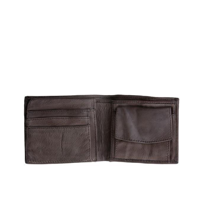 a8d70cac8d Portefeuille pour homme en cuir vieilli avec porte-monnaie de DUDU ...