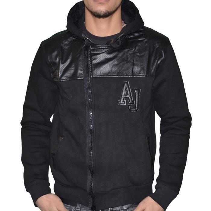 Armani Jeans - Veste Zippée Capuche - Homme - B6m71 Bi Matière ... f3f41b271a7