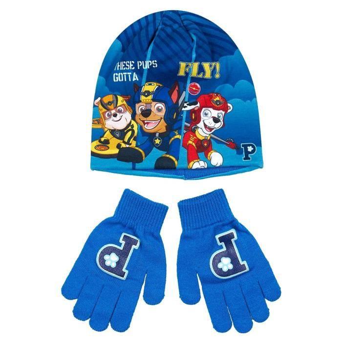 Bonnet et gants enfant garçon La Pat  Patrouille Bleu foncé de 3 à ... 16a8ba362af