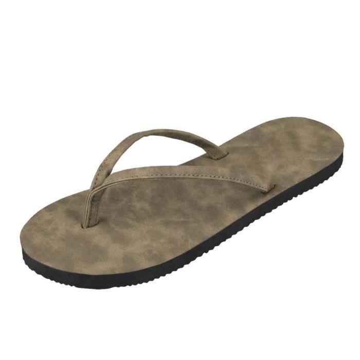 pantoufle été Poids Léger tongs sandales homme marque Antidérapant chaussures plage chaussure homme tendance G dssx105marron43 mplMe