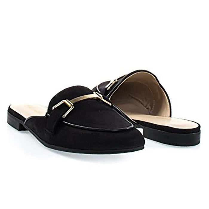 Mors Gold Tone Women Hardware Backless Slip On Mocassins IB9ZH Taille-41