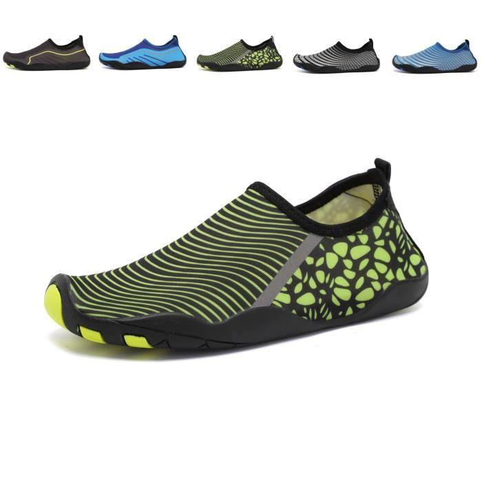 Chaussures d'eau Chaussettes de yoga aux pieds nus de la femme Slip-on pour les enfants FA3DA Taille-38