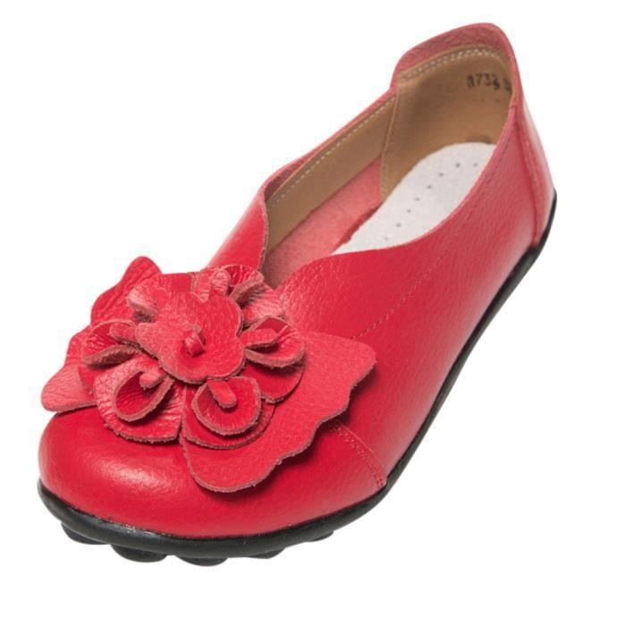 Cuir En Femme Casual Sandales Souples Opd20485 Cheville Chaussures Flats Lady Slipper UgOqT