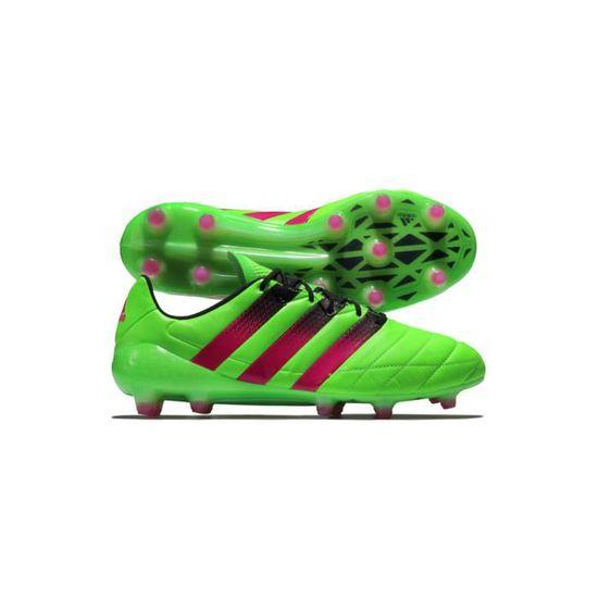 online retailer 02255 a575a ADIDAS PERFORMANCE Chaussures de football Ace 16.1 FG AG - Homme - Vert et  Rose - Achat   Vente chaussures de football - Cdiscount