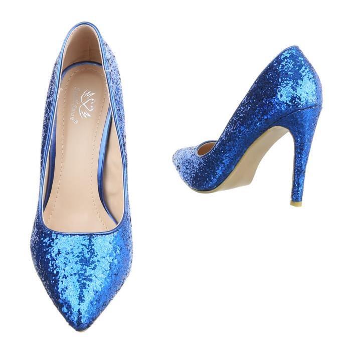 Femme chaussures escarpin High Heels bleu 39