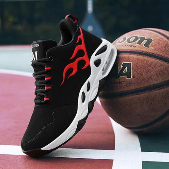 Baskets mode Baskets homme Chaussures de ville Chaussures populaires Nouveauté Chaussures Trail Running Basketball - Noir-rouge 8MKmZ
