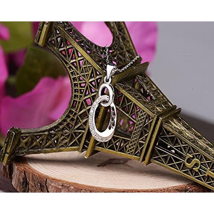 925 Argent Zircone Cubique Symbole Infini Collier Pendentif Pour Femme-Filles